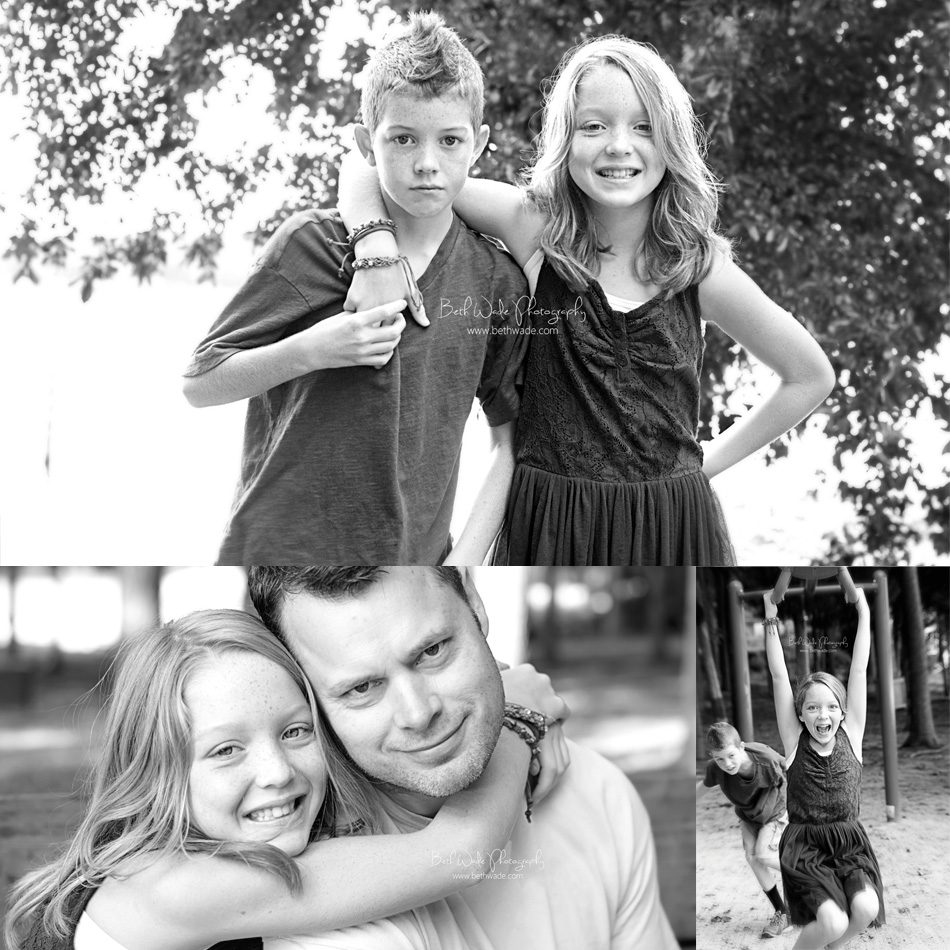 siblings age 8 and 10 - charlotte lake wylie family photographer
