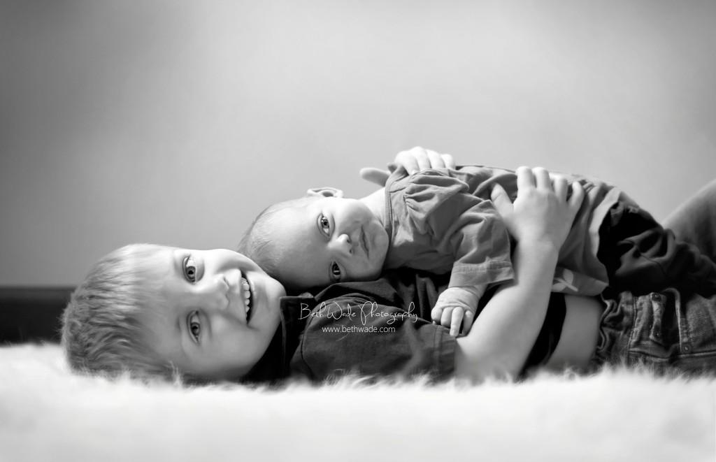 newborn family of 4 - charlotte family photographer