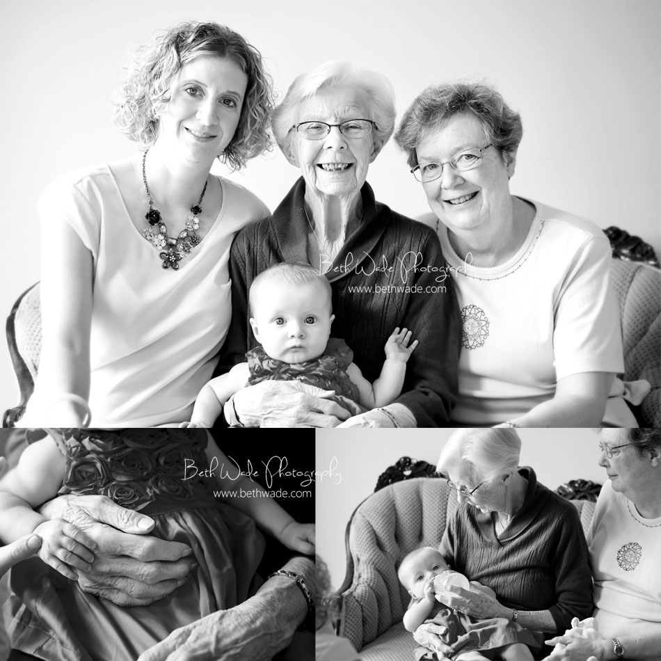 4 generations of women charlotte family photographer