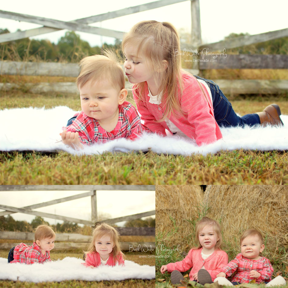 sisters at the ranch - charlotte baby photographer