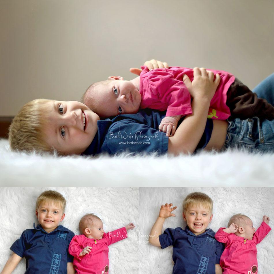 family of 4 - charlotte newborn photographer