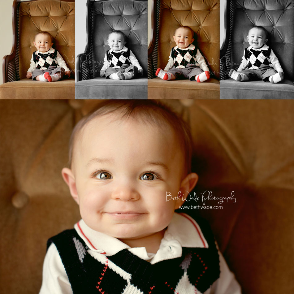 7 month old baby boy - charlotte baby photographer