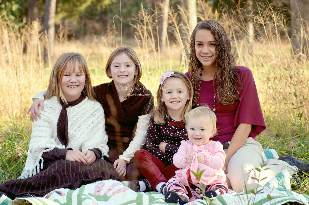 5 sisters family of seven - charlotte family photographer