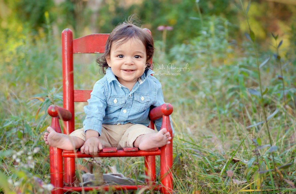 6 month old family of 3 - charlotte family photographer