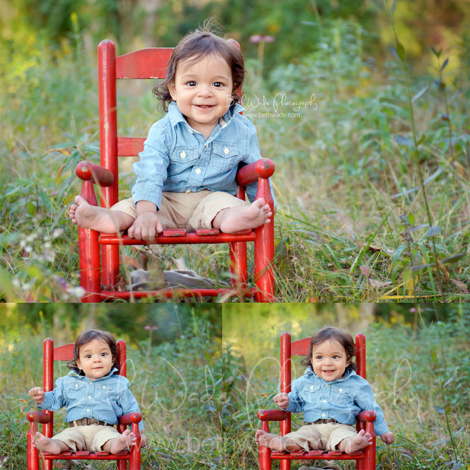 6 month old baby boy ~ family of 3 {charlotte baby photographer}