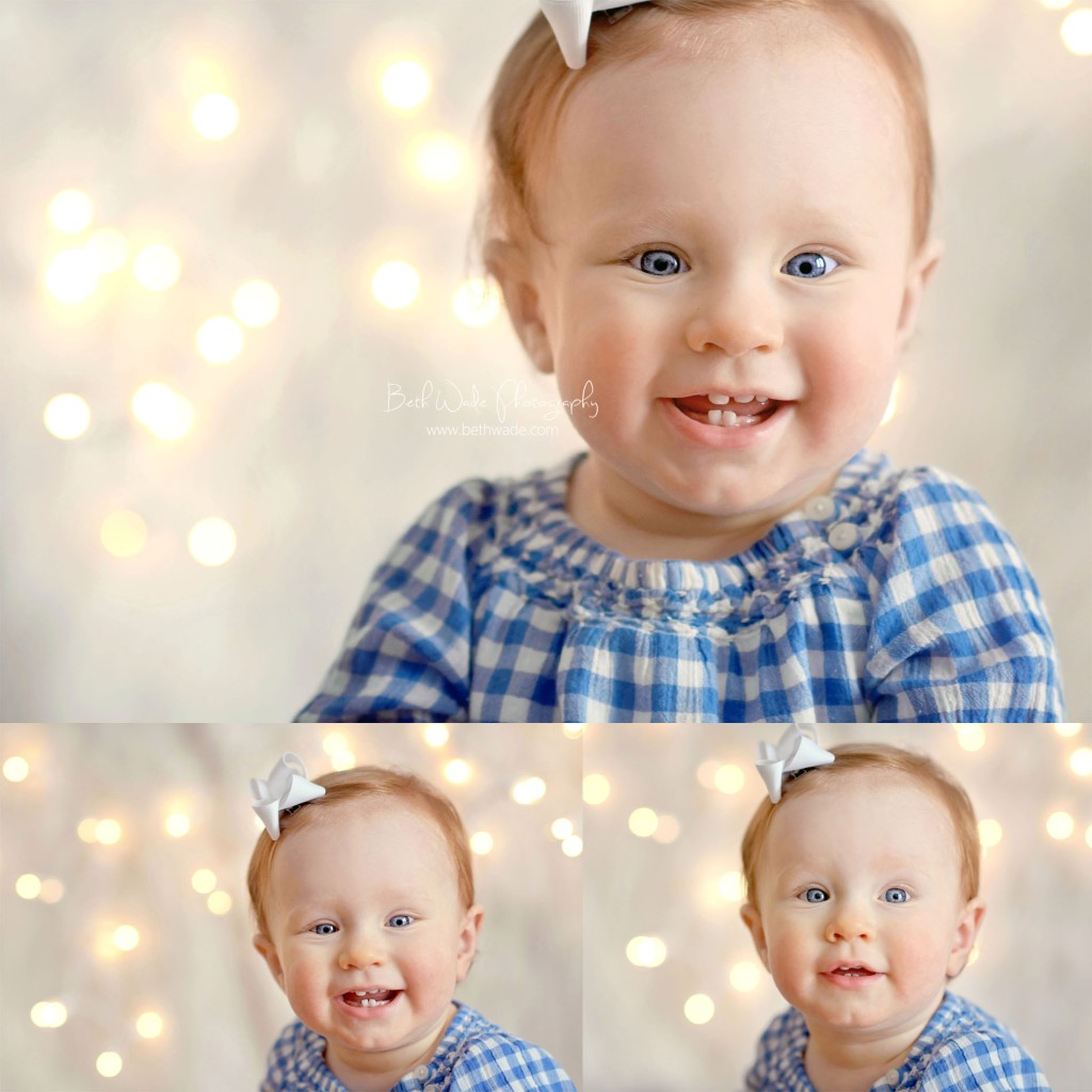 family of 3 with 1 year old baby girl - charlotte baby photographer