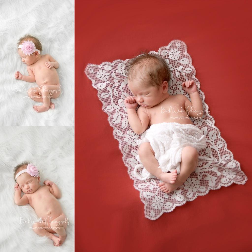 8 days old baby girl - charlotte newborn photographer