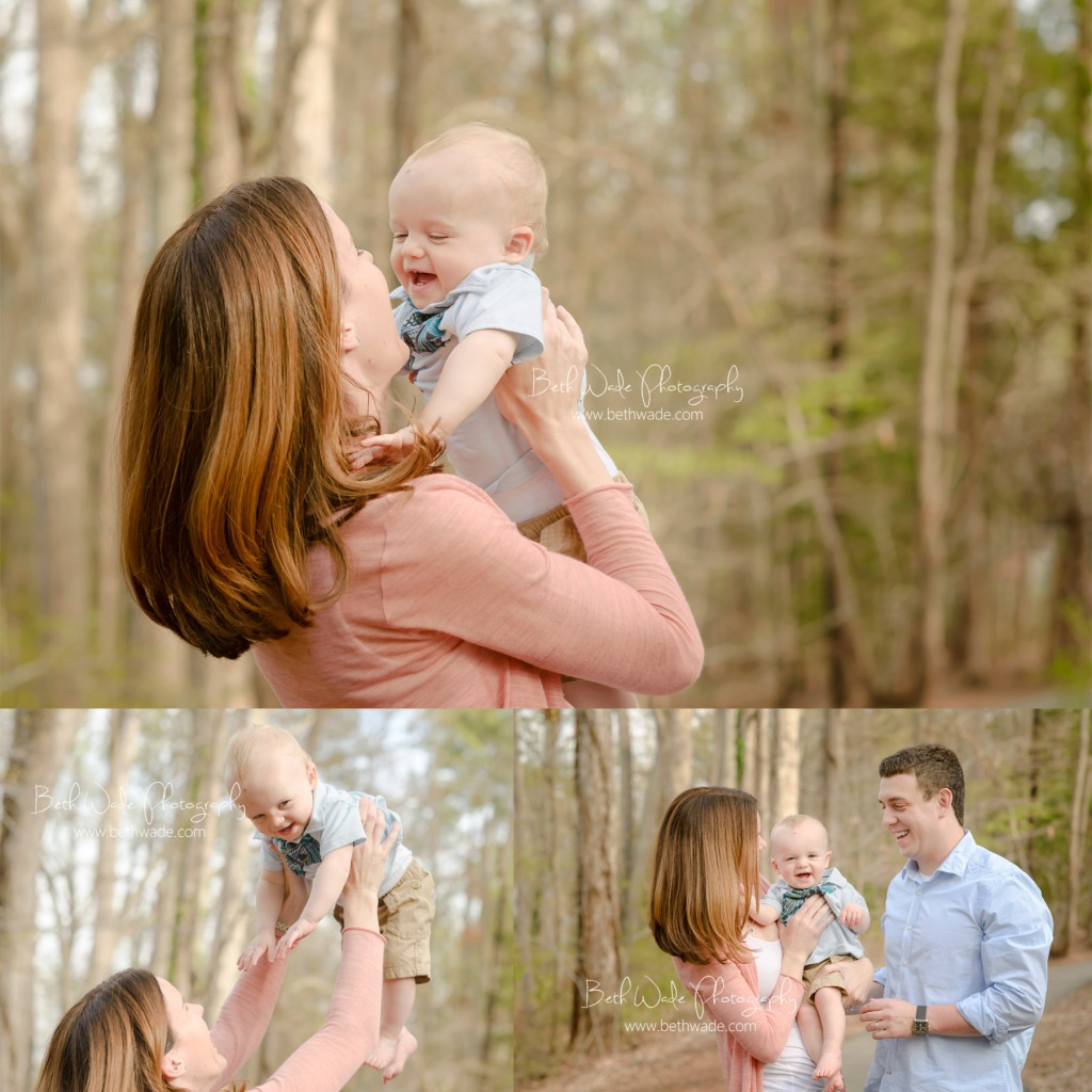 1 year photos~ family of 3 {charlotte baby photographer}