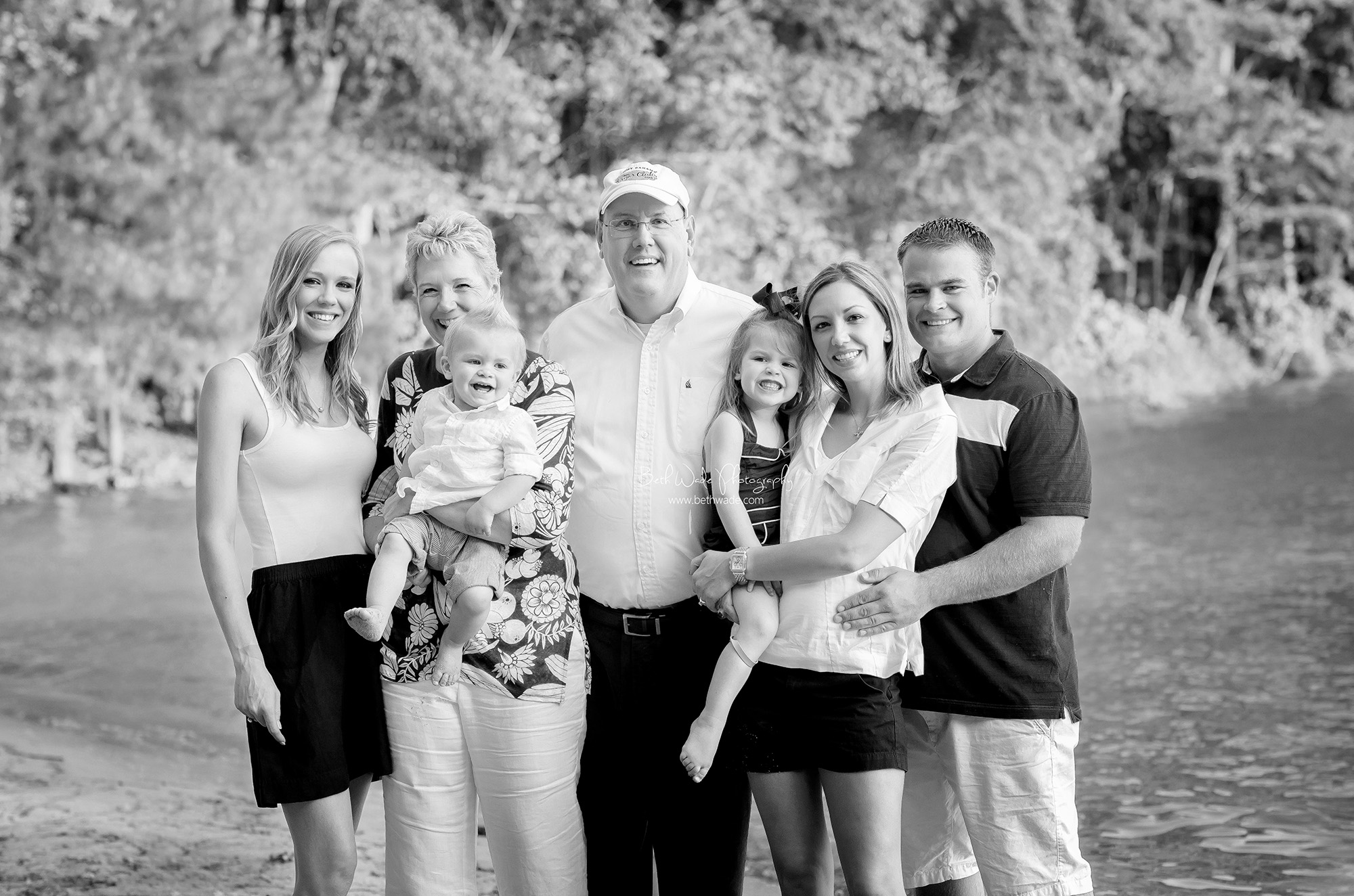 daddy's girls and the grandkids {lake norman family photographer}