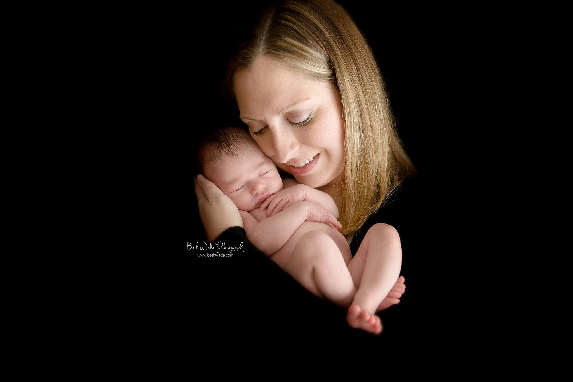 7 days new baby girl ~ family of 3 {charlotte newborn photographer}