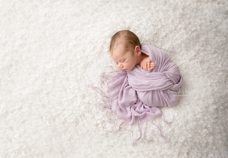 7 day old baby girl ~ family of 3 {charlotte newborn photographer}