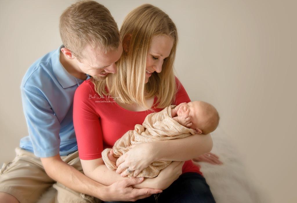 19 days new baby boy ~ family of 3 {charlotte newborn photographer}