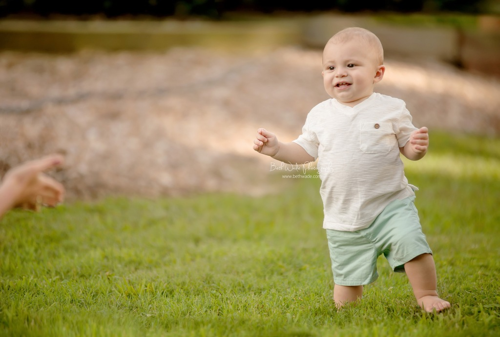 happy 1 year old baby boy ~ all smiles!  {charlotte baby photographer}