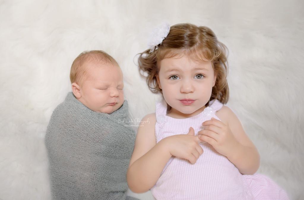 14 days old baby boy ~ family of 4 {charlotte newborn photographer}