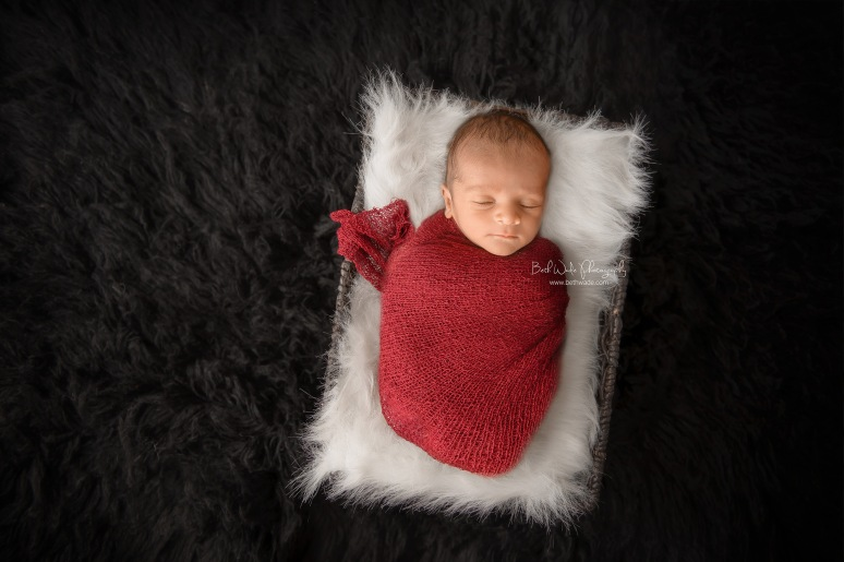 14 days old baby boy ~ family of 3 {charlotte newborn photographer}
