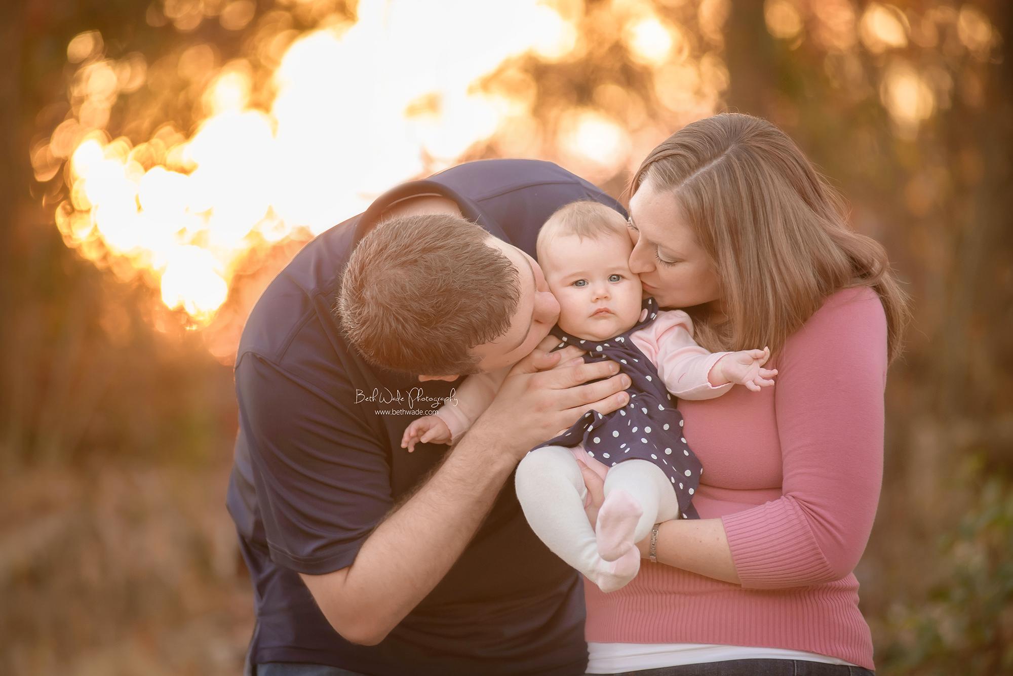 6 month old blue eyed girl ~ family of 3 {south charlotte nc baby photographer}