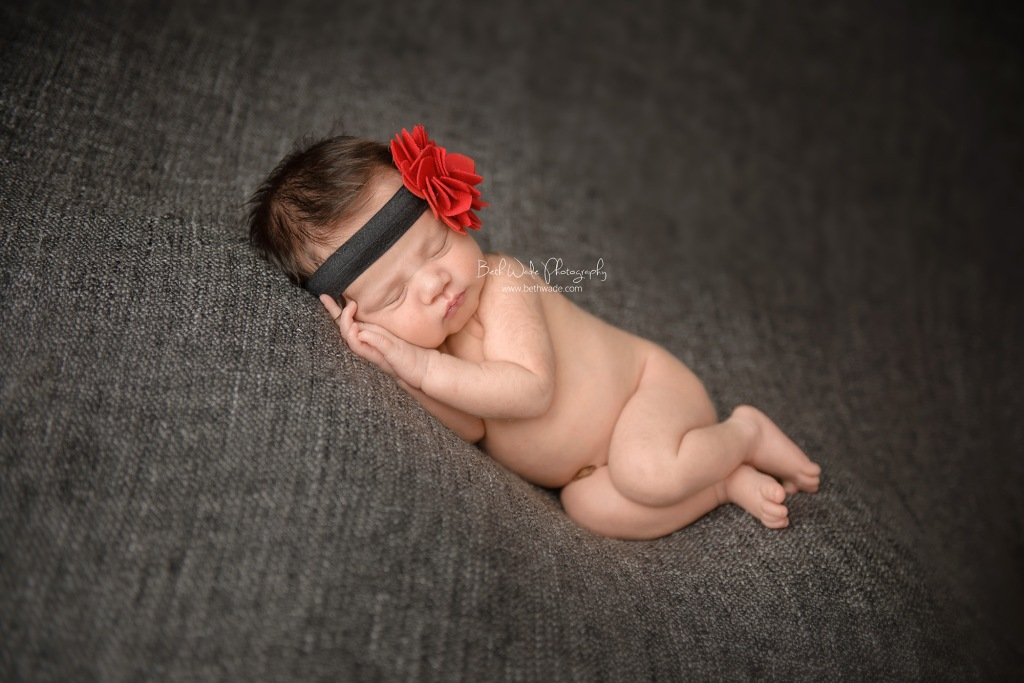 11 day old brunette beauty ~ family of 4 {south charlotte newborn photographer}