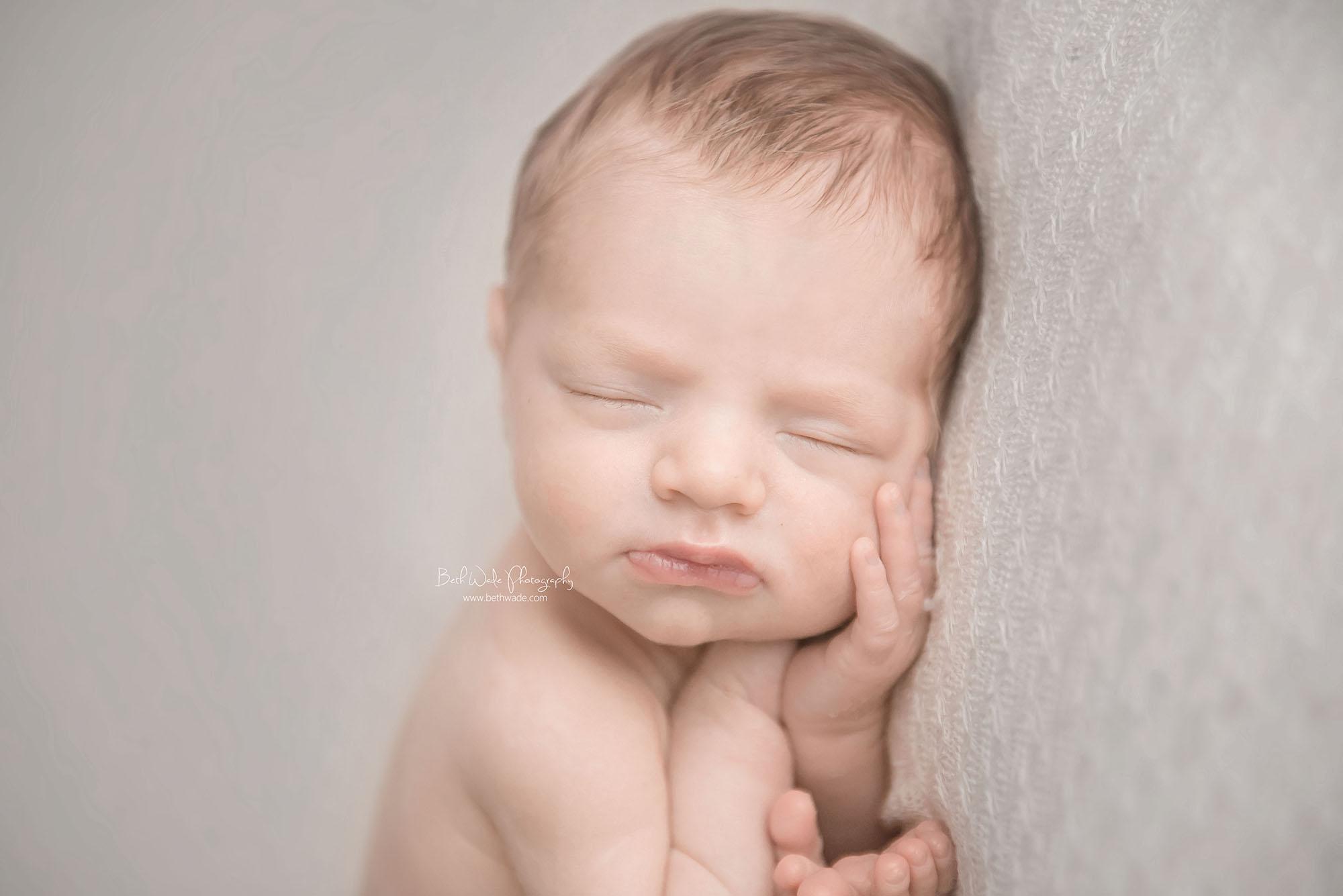 sleepy smiley 13 day old baby boy ~ family of 3 {charlotte newborn photography}