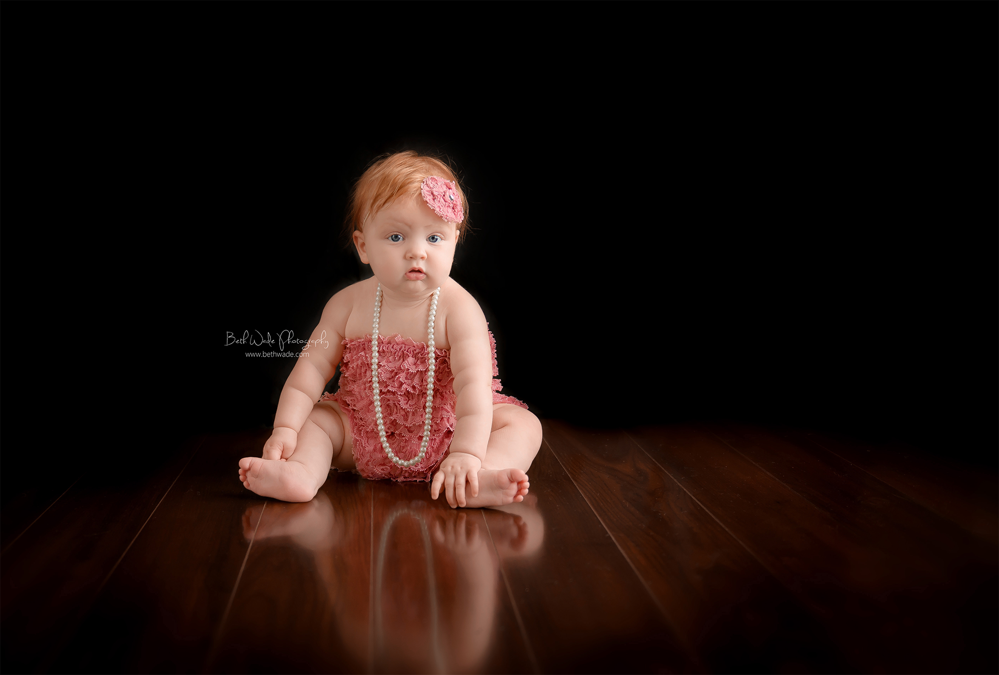 6 months young strawberry blonde ~ family of 5 {lake wylie sc baby photographer}
