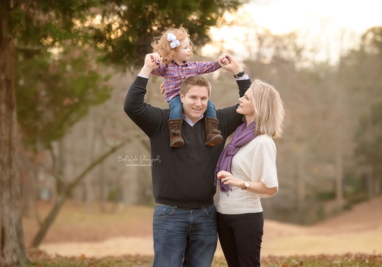 happy 2 year little lady ~ family of 3 {charlotte baby photographer}