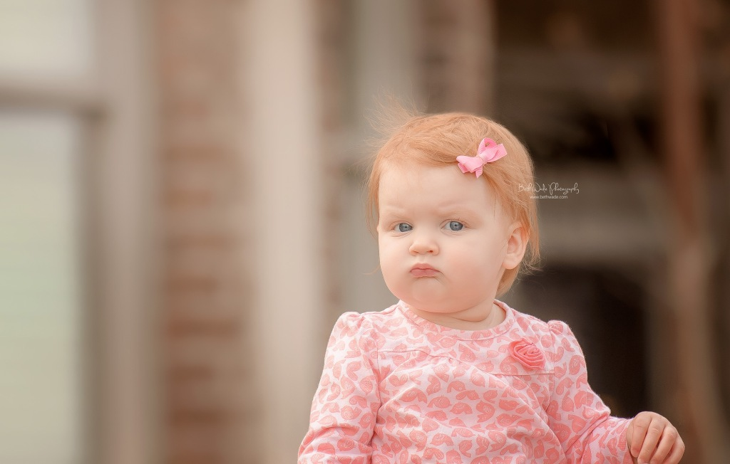 sweet ginger girl at 9 months old  ~ family of 5 {lake wylie child photographer}
