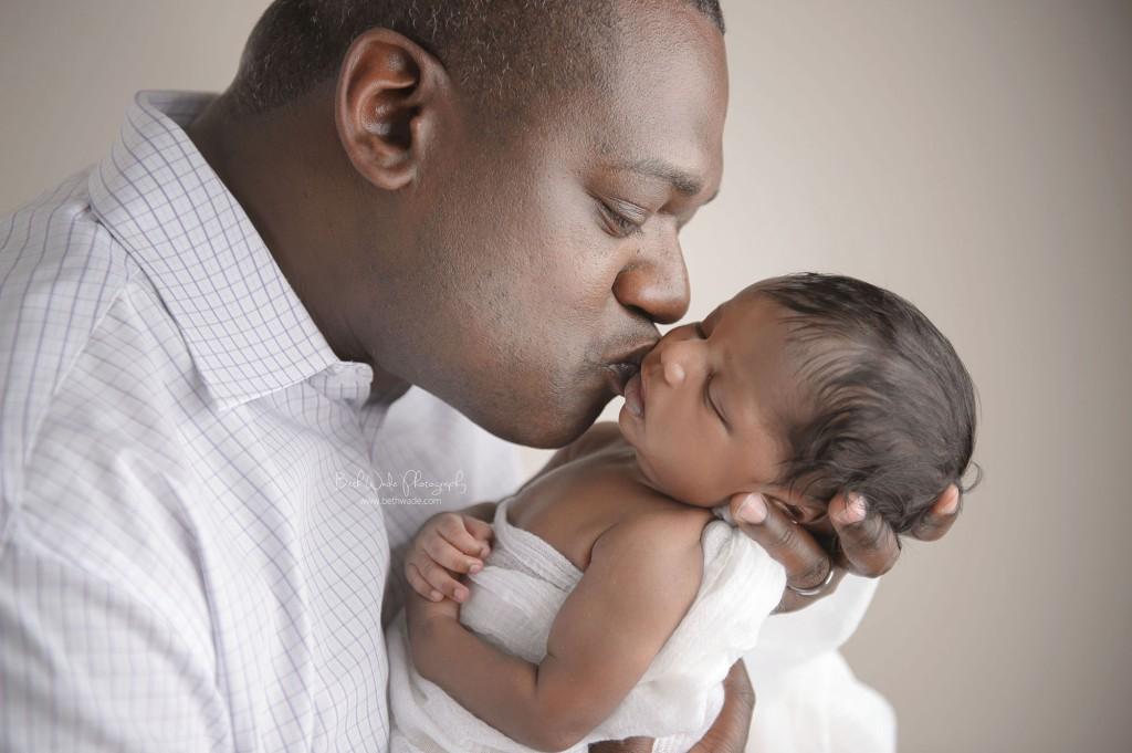 newborn baby boy and daddy - charlotte nc