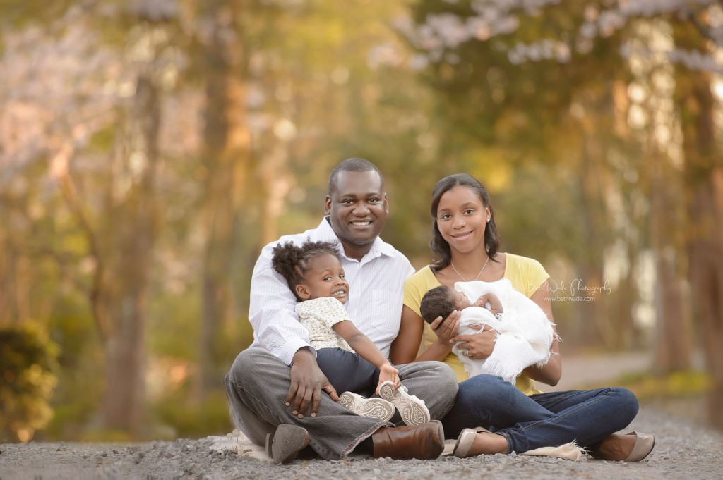 family of 4 - outdoor newborn photograph charlotte