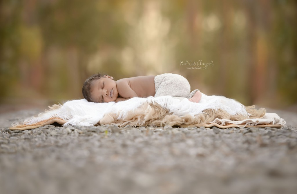 baby boy - outdoor newborn photography