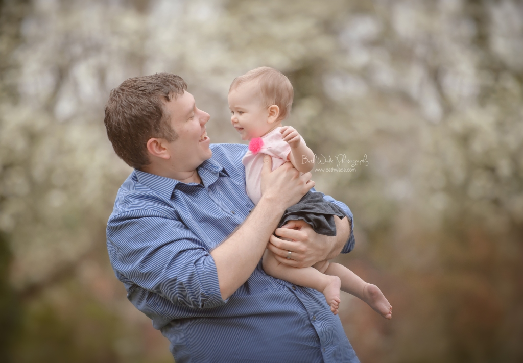 baby girl at 9 months!  ~ with her daddy {fort mill baby photographer}