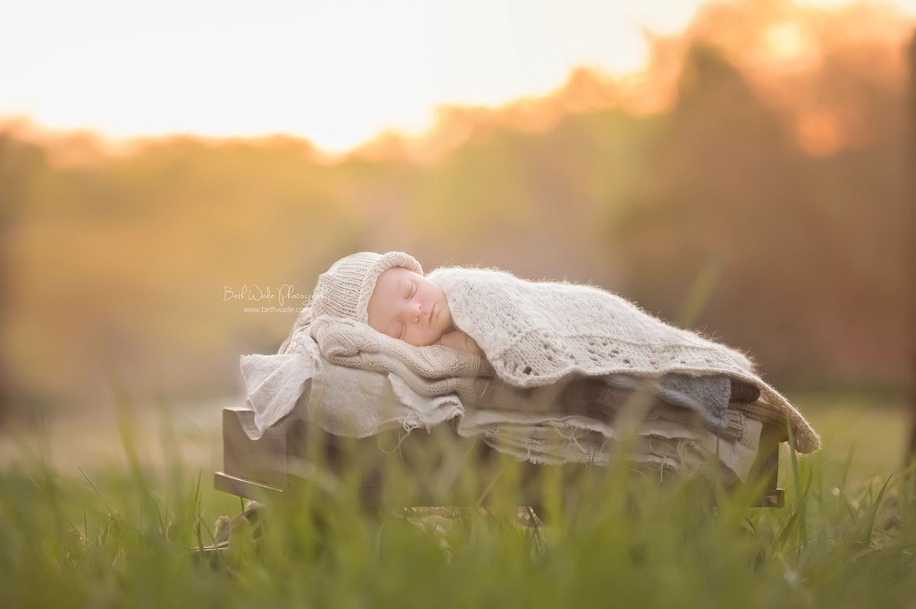 welcome spring! baby boy 9 days new ~outdoor newborn photography