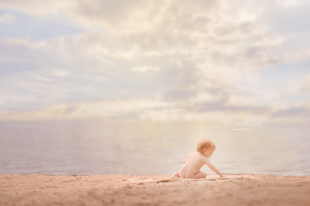 beach photo ~ baby E turns 1! {lake wylie child photographer}