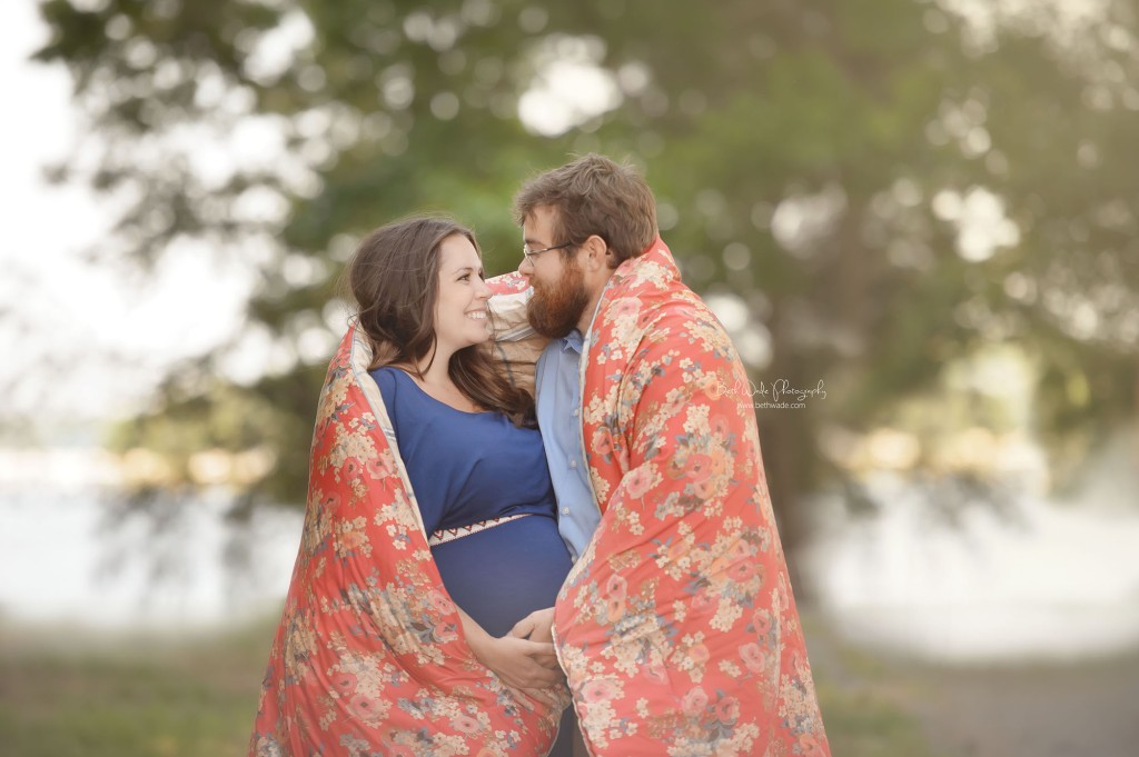 expecting couple hugging {charlotte maternity photography}