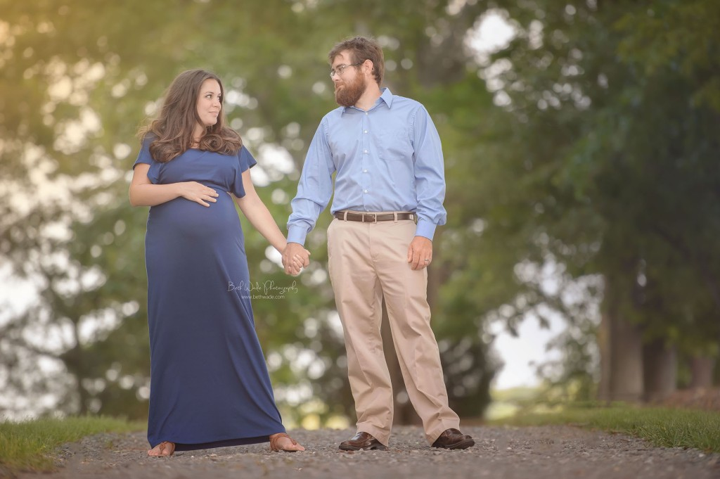 expecting couple standing {charlotte maternity photography}