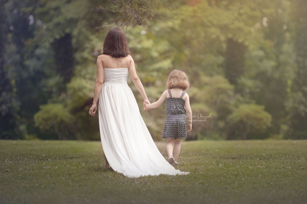 big sister walking with mama outdoors {charlotte maternity photography}