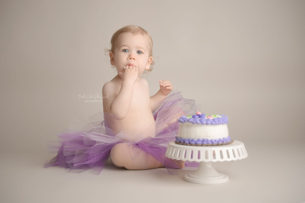 baby f turns 1! icing on the cake smash {south charlotte child photographer}