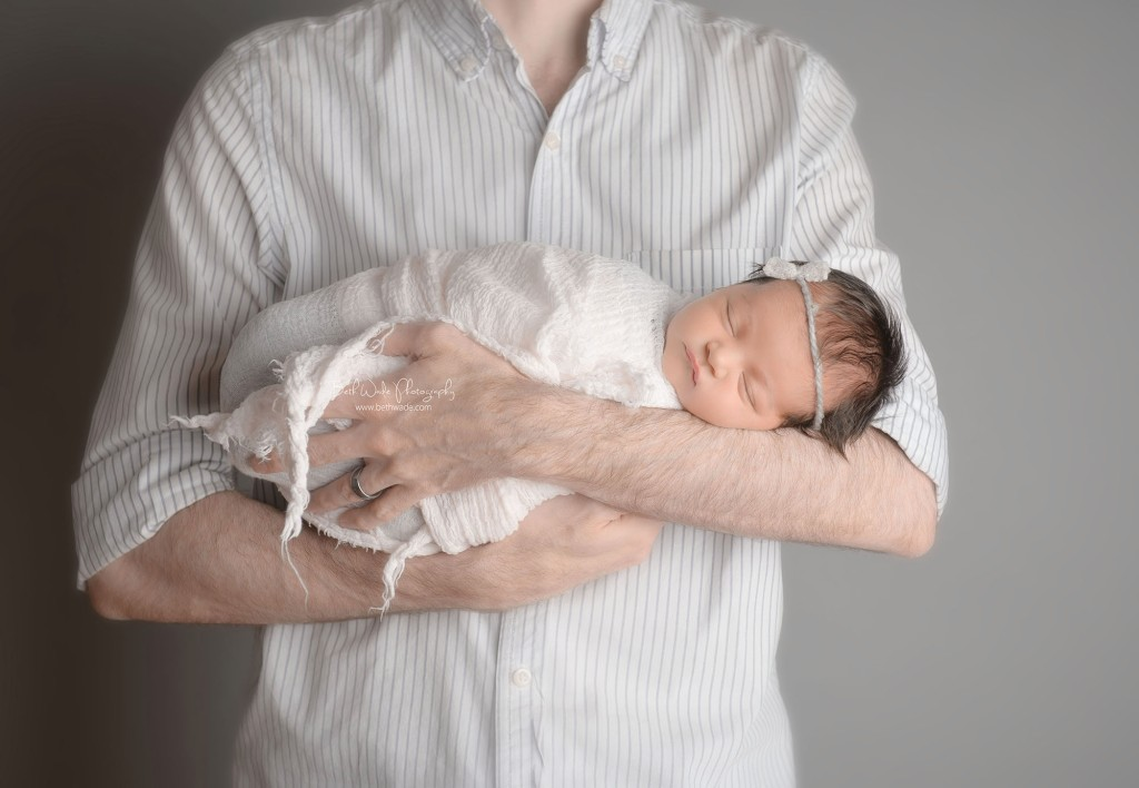 bright eyed baby girl at 9 days old ~ family of 4 {north charlotte newborn photographer}
