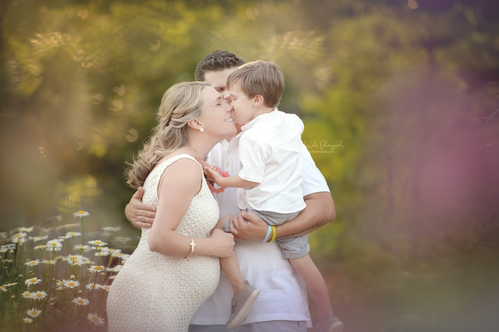 august birthday due ~ family of 3 {ethereal maternity photography charlotte nc}