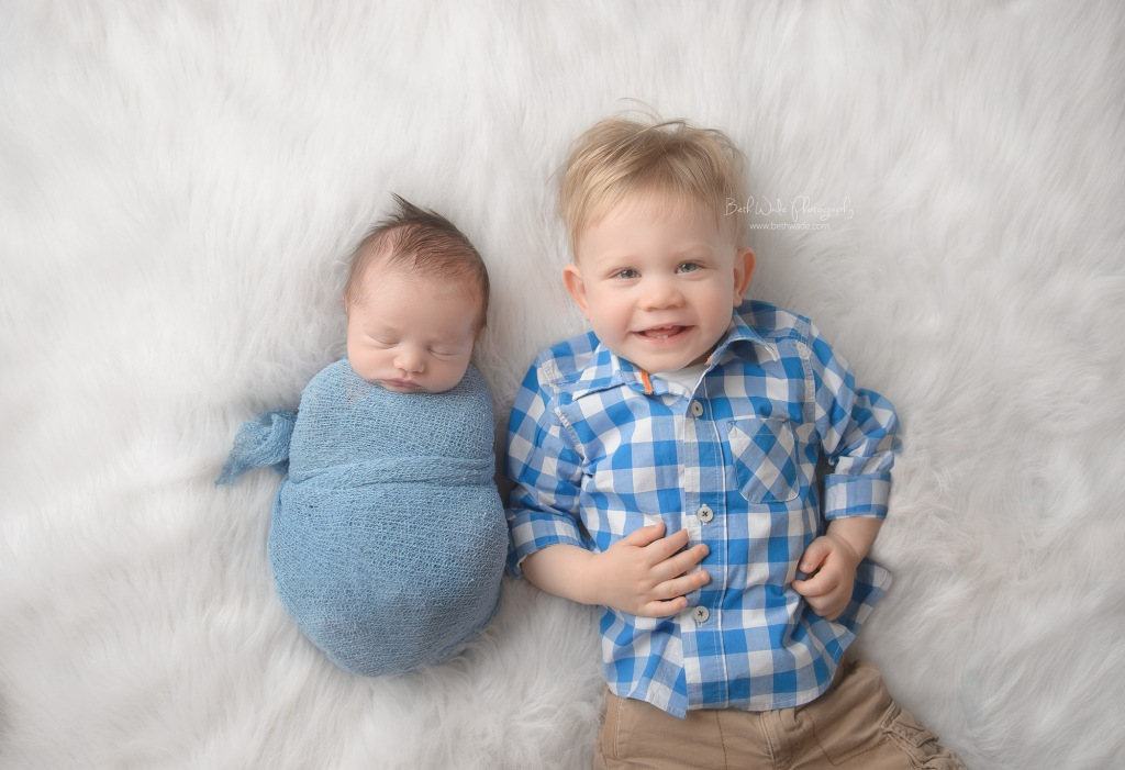 13 day old baby brother ~ baby boy L {south charlotte newborn portraits}