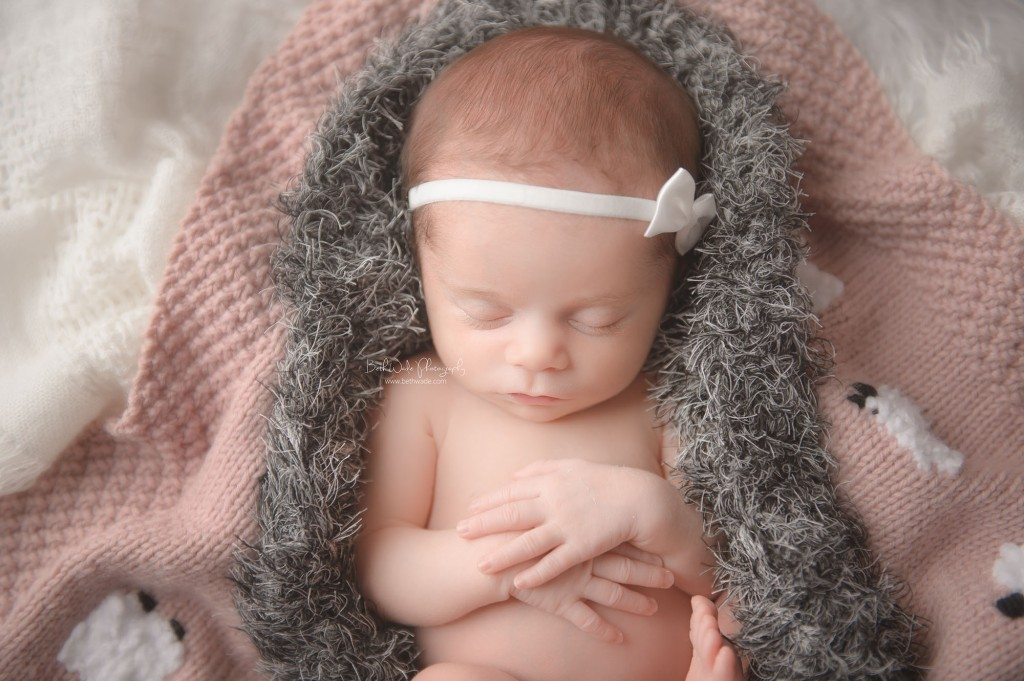 tiny baby girl A at 21 days {charlotte newborn photography}