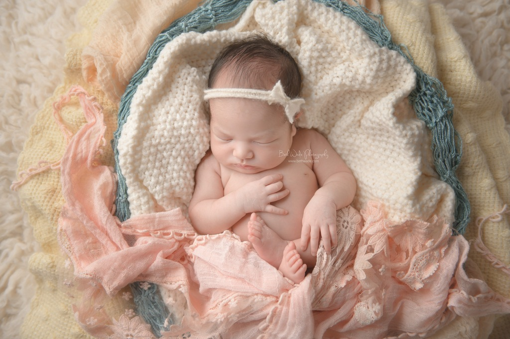 happy smiley baby girl C ~ 11 days old {newborn photography south charlotte nc}