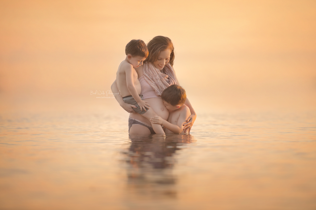 baby wade 2015 ~ autumn sunset with my boys {lake wylie maternity photographer}