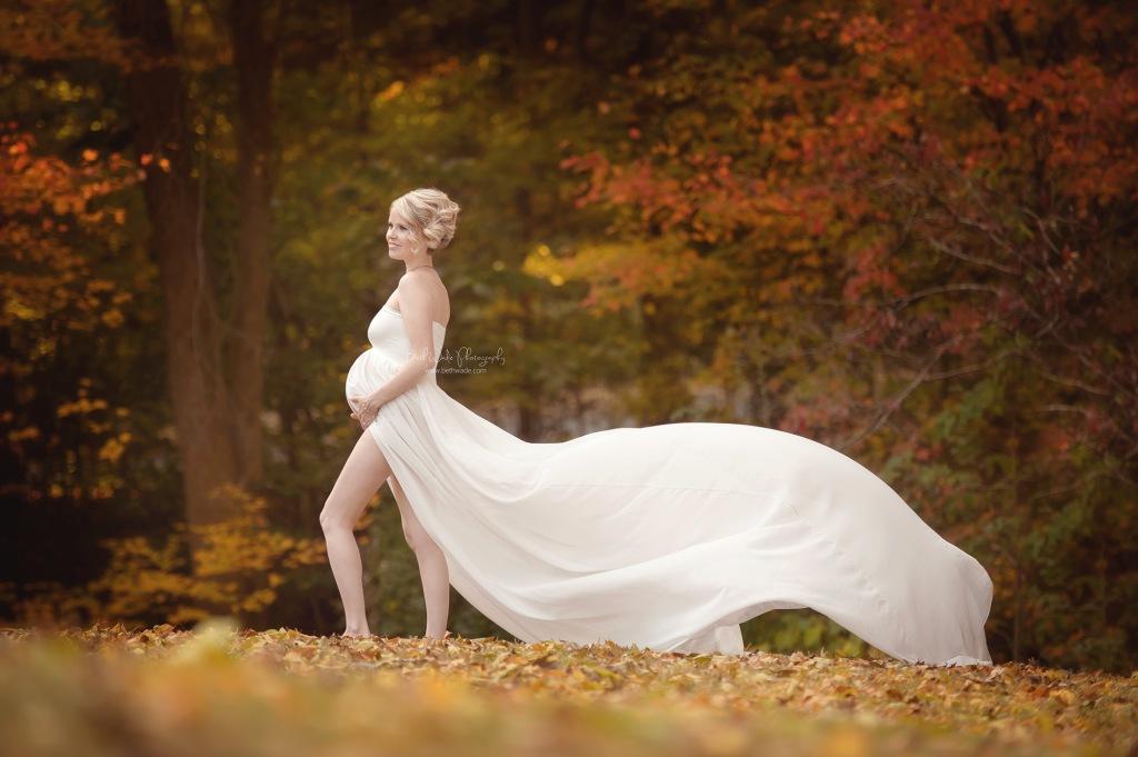 timeless beauty ~ autumn baby girl  {huntersville maternity photographer}
