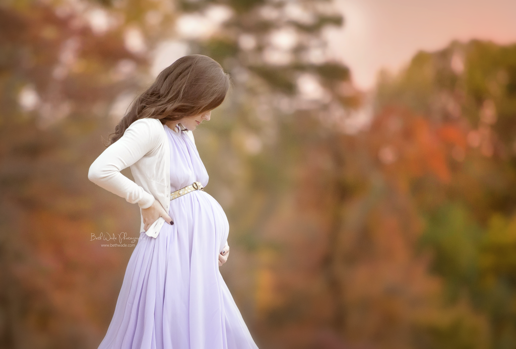 baby wade 2015 ~ fallen leaves and princess dress {lake wylie maternity photographer}