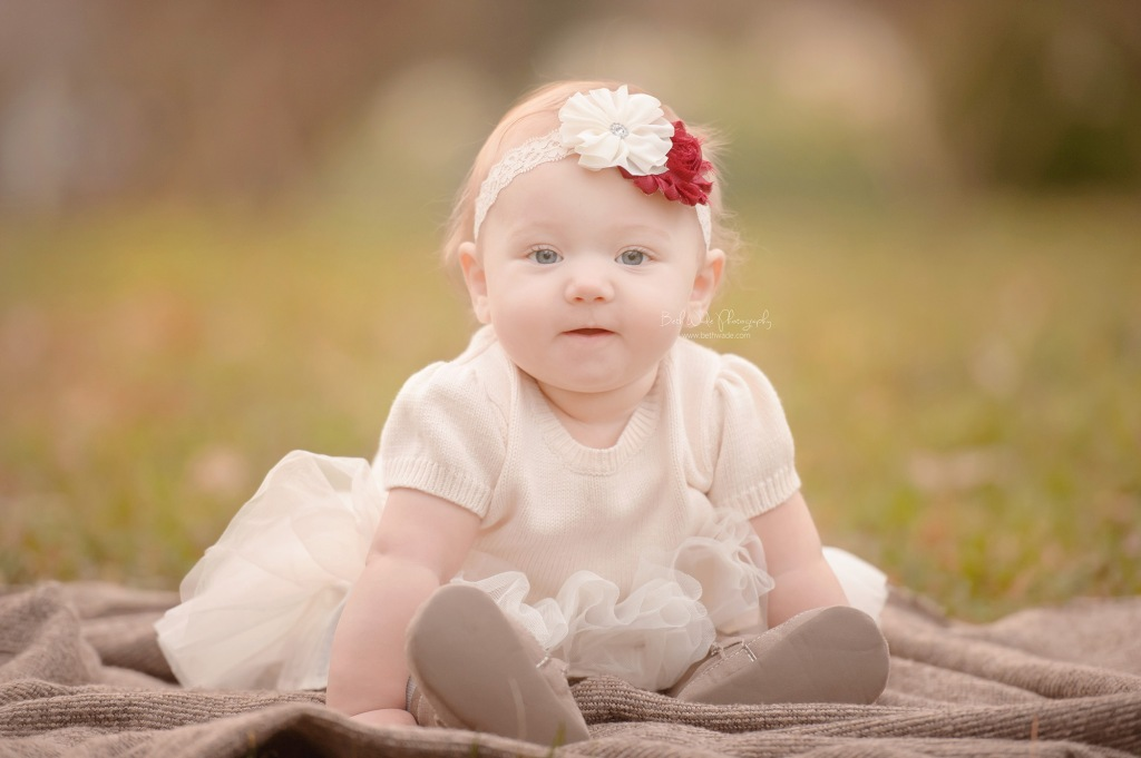 6 month old baby girl ~ holiday photos {cornelius child photographer}