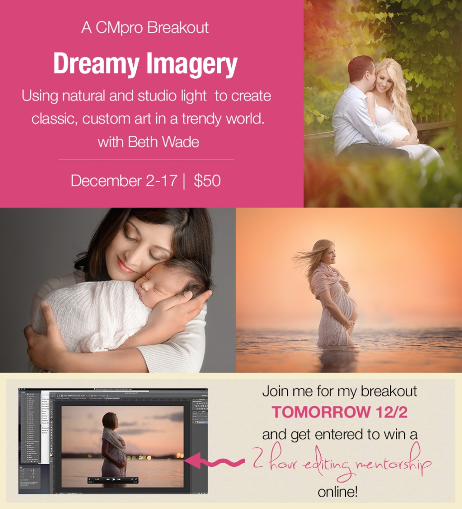 dreamy imagery ~ using natural and studio light to create classic, artistic photography {breakout for clickin moms by beth wade}