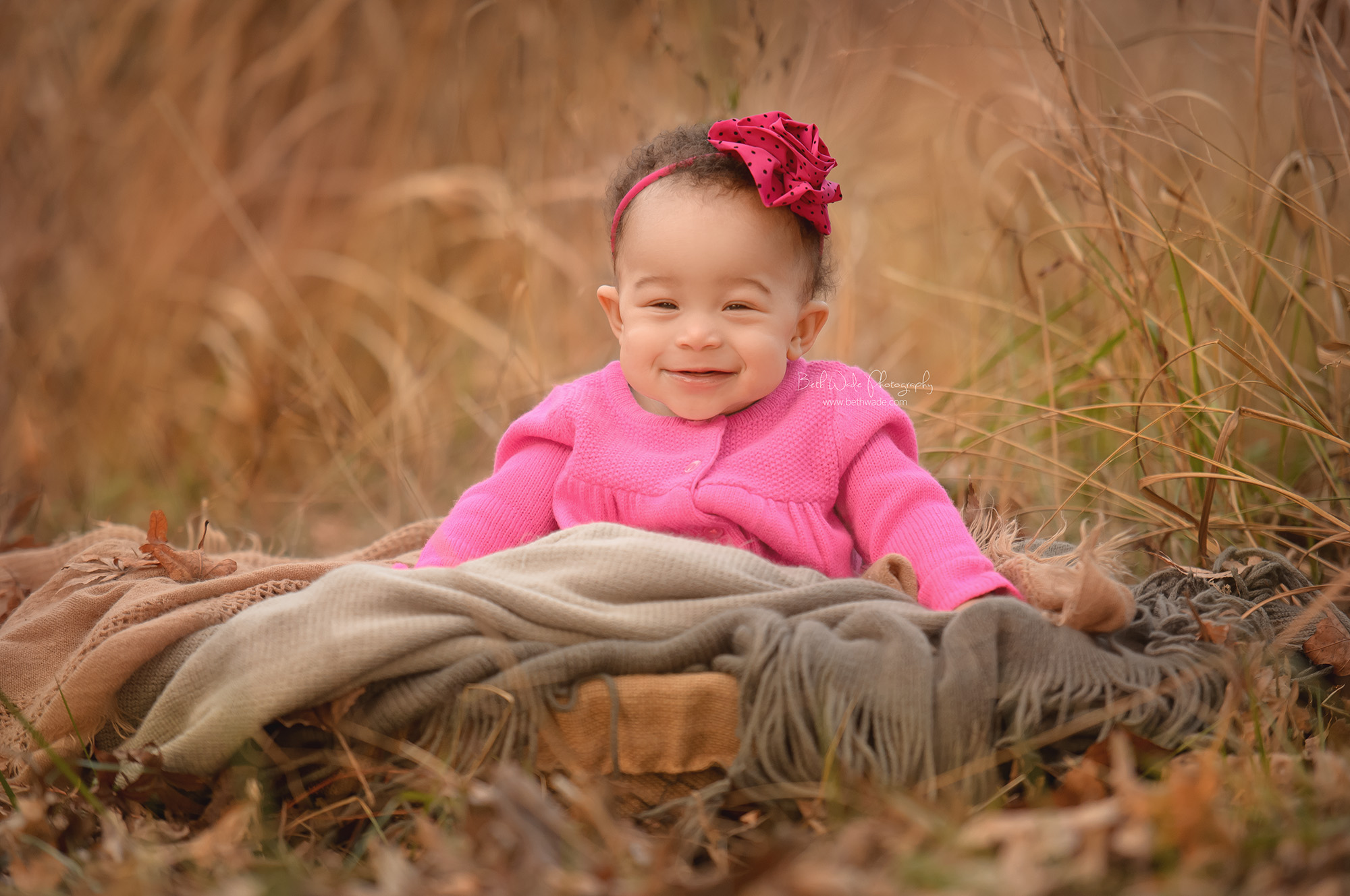happy baby girl ~ 6 month old cutie {south charlotte child photographer}