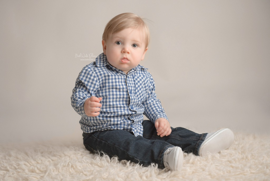 sweet chunky baby boy ~ almost 1 year old {matthews baby photographer}