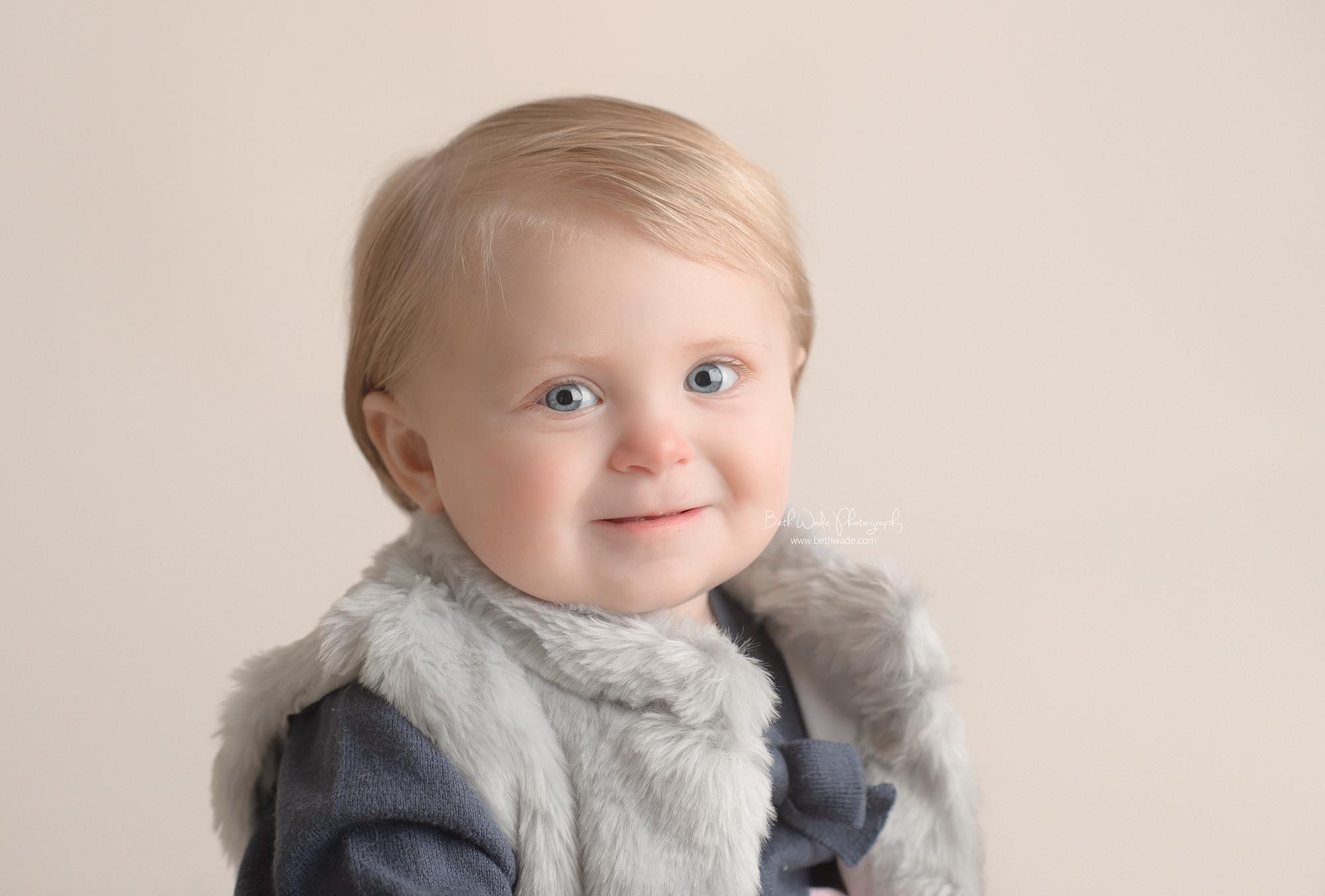 blue eyed baby girl ~ happy 1 year {lake wylie child photography}