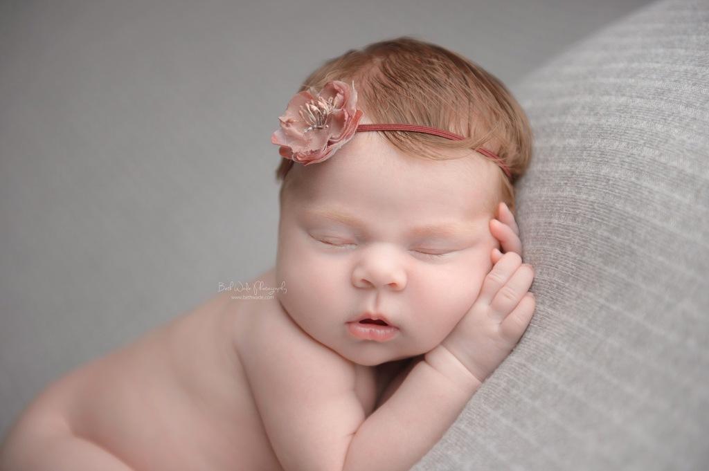 happy bright eyed girl ~ 14 days new {newborn photographer north charlotte}