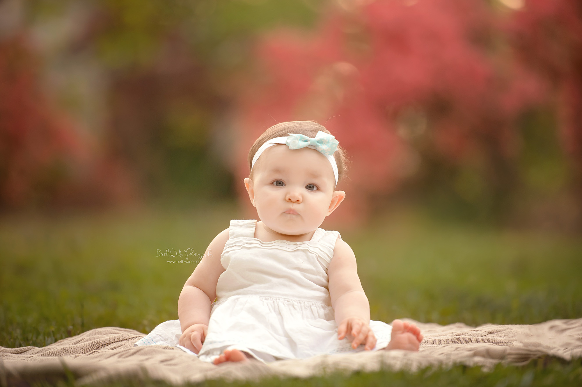 gummy smile baby girl ~ 7 months old {belmont family photographer}